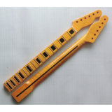 Collo della chitarra dell'acero di un pezzo Finished della fiamma di lucentezza tele