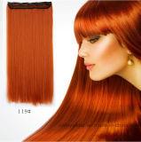 Longue prolonge de cheveu droit de la mode cinq de cheveu neuf de clips