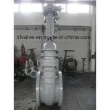 Válvula de porta de flange de uso industrial com engrenagem operada