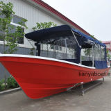 Liya 7.6m Bateau de pêche en fibre de verre Panga Bateau à vendre