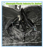 大きい黒FIBC袋はとのループおよび上の口を側面継ぎ合わせる