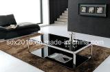 백색 유리제 커피용 탁자 Moder 디자인 홈 가구 2개의 층