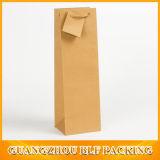 Bolso de papel de encargo de lujo de la botella de vino