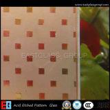 vidro gravado ácido de 4-12mm figurado/vidro de teste padrão (AD48)