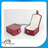 Fancy rojo cuero Jewelry Display Box Set con Lock