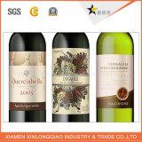 La boisson auto-adhésive de vin a estampé le collant de papier de bouteille d'impression d'étiquette