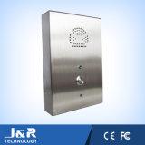 Sistema em dois sentidos da entrada de porta, telefone da ajuda, linha de apoio a o cliente, telefone do SOS