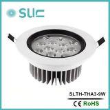 Usine chaude de Ningbo de lampe de plafond de la classe III DEL de la vente 9W