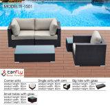 最もよい品質の屋外の藤の柳細工モジュラー部門別のソファー