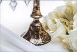 Держатель для свечи плаката бронзы 3 стеклянный для украшения венчания