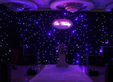 2m * 3m Blue&White Fireproof Flexible Backdrop LED Curtain Light met Controller voor Wedding/DJ