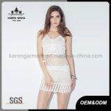 100% de las señoras de punto de algodón falda apretada atractiva malla