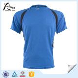 メンズは袖の実行の摩耗の涼しい乾燥したスポーツのTシャツをショートさせる