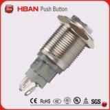 Ce UL ISO9001 Resistente ao Vandalismo 16mm 2no2nc 3A / 250V Bloqueio / Bloqueio automático do botão