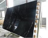 고품질 Nero 환상 검정 Marquina 화강암 벽 훈장 석판