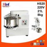 Электрическая спиральн машина выпечки оборудования гостиницы оборудования кухни машины еды оборудования доставки с обслуживанием BBQ оборудования хлебопекарни Ce смесителя (HS20) 21L 220V