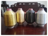 Il MX digita il filato di poliestere metallico del filato per colore dorato di tessitura del filato di Lurex del maglione