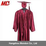 Children's Graduation Cap Gown Shiny Maroon