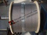 A2 1.4301 câble métallique recuit 304 par 1.5mm de l'acier inoxydable 7X7 avec la norme En12385-4