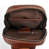 Sac de poitrine d'homme de cuir de graines de couleur de Brown plein (RS-2028)