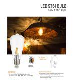 エジソン4W 6W E27、E26のB22フィラメントLEDの蝋燭ライト