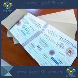 Impression de sécurité personnalisé Hot Stamping Ticket