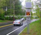Напольный знак детекторов скорости радиолокатора движения дороги СИД проблескивая солнечный