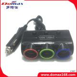 2개의 USB 힘 포트 및 3개의 소켓 보편적인 차 충전기 접합기 연기가 나는 담배 점화기