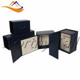 Rectángulo de regalo de empaquetado de Flannelette del reloj interno de encargo de la bandeja