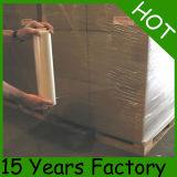 Película de estiramento 80gauge*6000' manual livre da amostra 20 '' * para o envoltório da pálete
