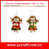 Decoración de la Navidad (ZY11S248-1-2-3) Ornamento del ángel de Santa del mercado de Navidad