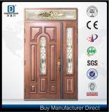 Porte d'entrée principale moderne de fils de maman en verre givré de fibre de verre de Fangda