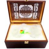 Klassischer roter hölzerner deluxer Tee-oder Wein-Verpackungs-Geschenk-Kasten