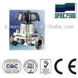 Válvula de diafragma embridada sanitaria del acero inoxidable (IFEC-CD100012)