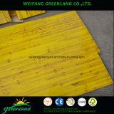 Желтый цвет 3 слоя доски форма-опалубкы