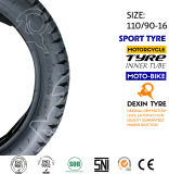 """Pneu do """"trotinette"""" do pneumático da motocicleta do velomotor fora da estrada 110/90-16"""