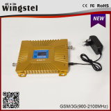 2016アンテナが付いているデュアルバンド2g 3G 4G 900/2100MHzの移動式シグナルのブスター
