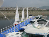 Muelle flotante plástico del barco