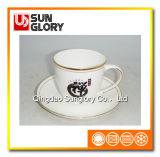 Усильте кружку кофеего фарфора с золотистой резьбой Bd041