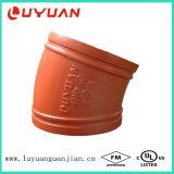 O cotovelo Grooved do ferro Ductile com FM/UL aprovou (a fábrica profissional)