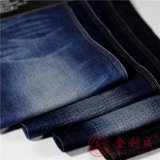 Tela del dril de algodón del algodón Qm5708-5 para los pantalones vaqueros