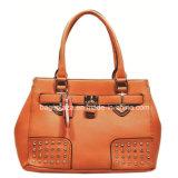 형식 리베트와 자물쇠 디자인 끈달린 가방, PU 숙녀 핸드백