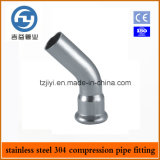 Os encaixes quentes da imprensa do aço inoxidável da venda escolhem a compressão cotovelo de 45 graus