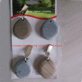 灰色の小石のテーブルクロスの4クリップのセットは屋外の庭のアクセサリまたは石のテーブルクロスの重量を重くする