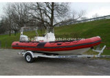 Aqualand 19feet Rigid Inflatable Motor BoatかRib Patrol Boat (rib570b)