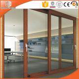 Раздвижные двери древесины/тимберса одетые алюминиевые для виллы