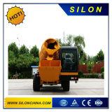 Mini individu automatique chargeant le mélangeur concret mobile avec le camion diesel hydraulique