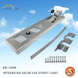 Luz de rua solar ao ar livre interna clara ativada movimento de Lamparas Solares do jardim do diodo emissor de luz do sensor sem corda