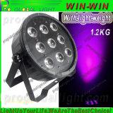 Professioanl 9LED claro 10W 6in1 Mini Flat LED PAR Luz