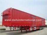 Semi-remorque de cadre de transport de cargaison de remorque de Gooseneck Van Type Truck